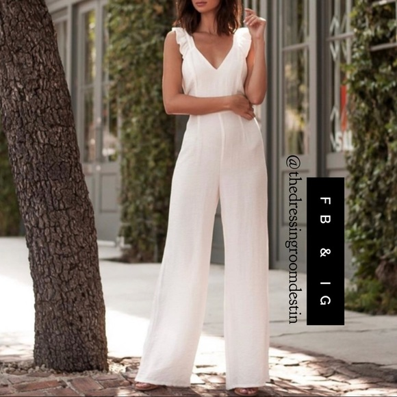 cc37a5461c07 NWT Ruffle Strap Jumpsuit w  Fitted Bodice. Boutique. Sugarlips